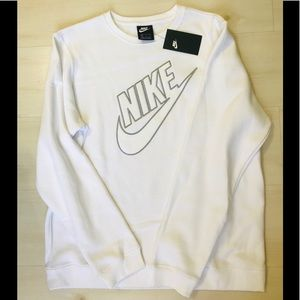 MEN'S NWT Nike White Crewneck Big Spell Patch